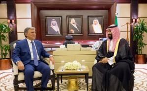 ولي العهد يلتقي رئيس الجمهورية التركية السابق عبدالله غول