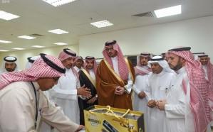 نائب أمير المدينة المنورة يزور فرع وزارة التجارة والاستثمار بالمنطقة