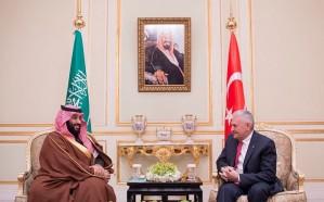 ولي العهد يلتقي رئيس الوزراء التركي