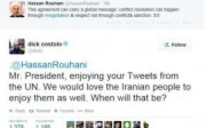 رئيس تويتر لروحاني: متى يستمتع الشعب الإيراني بالتغريدات مثلك؟