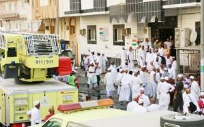 مدني مكة: إخماد حريق في عمارة يسكنها 391 حاجاً بحي العزيزية .. دون إصابات