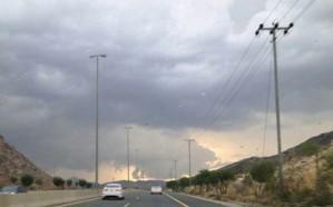 الأرصاد: سماء غائمة على معظم مناطق المملكة