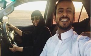 شاهد.. أول امرأة سعودية تجتاز منفذًا حدوديًّا بسيارتها