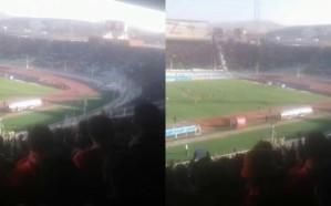 فيديو.. 50 ألف متفرج في ملعب تبريز ينددون بقمع احتجاجات الشعب الإيراني