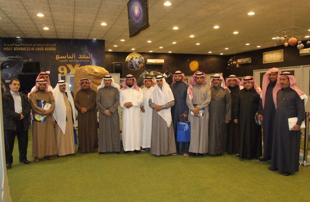 المركز الفلكي في جامعة المجمعة يستقبل اللواء الغامدي