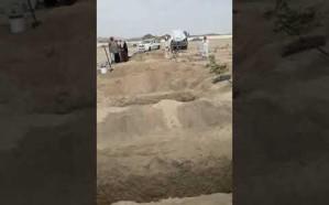 فيديو.. 6 أشخاص ذهبوا للمشاركة في جنازة قريبهم فدفنوا معه بعسير